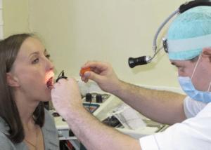 Соскоб слизистой языка