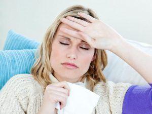 Слабость, рост температуры тела