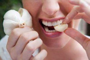 Для профилактики кушать чеснок