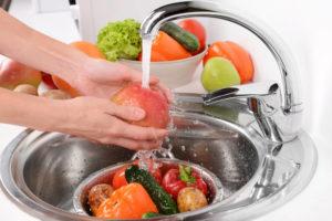 мытье фруктов и овощей